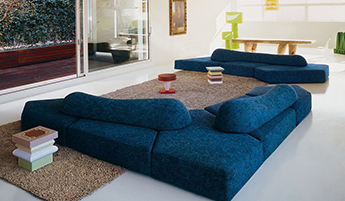 Нестандартная мягкая мебель в интерьере